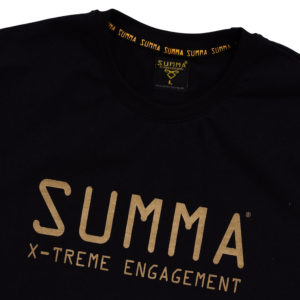 TEE-SHIRT BLACK AND GOLD Detail