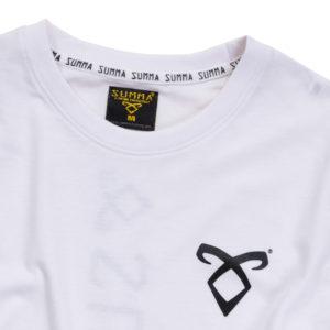 SUMMA ORIGINAL TEE-SHIRT WHITE AND BLACK Detail